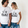 Set tricouri de cuplu Play together, stay together